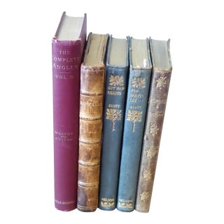 Antique Collection of Books - Set of 5 For Sale