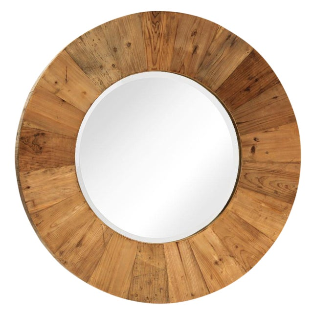 Reclaimed wood mirror frame chairish Where can i buy reclaimed wood near me