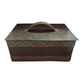 Vintage Decorative Metal Box For Sale