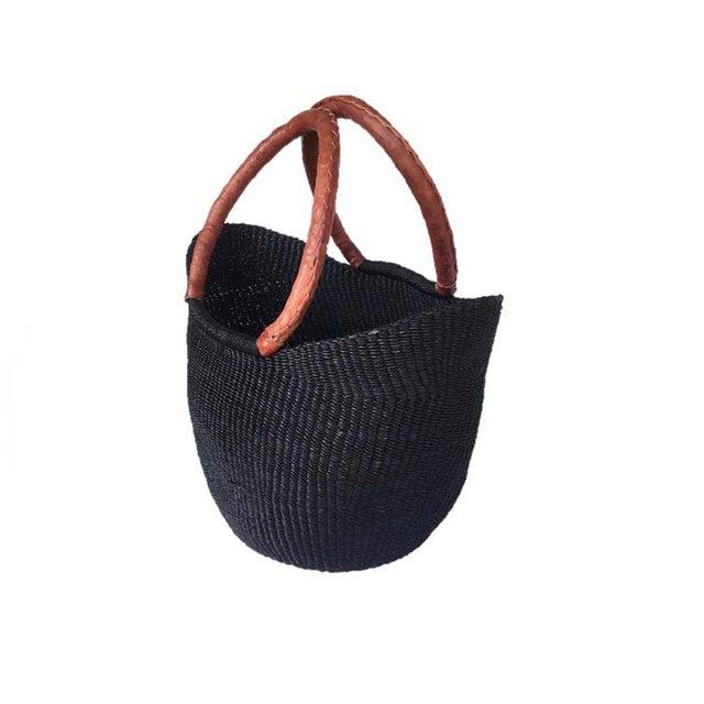 African Bolga Ghana Woven Yikene Basket For Sale - Image 4 of 6