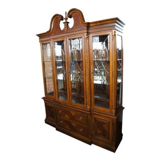 "Alexander Julian Home Colours Mahogany Chippendale China Cabinet Breakfront 71"" For Sale"