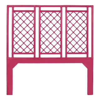 X & Diamond Headboard Queen - Bright Pink For Sale