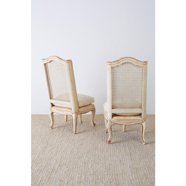 Pair of French Provincial Five-Leg Slipper Chairs For Sale - Image 12 of 13