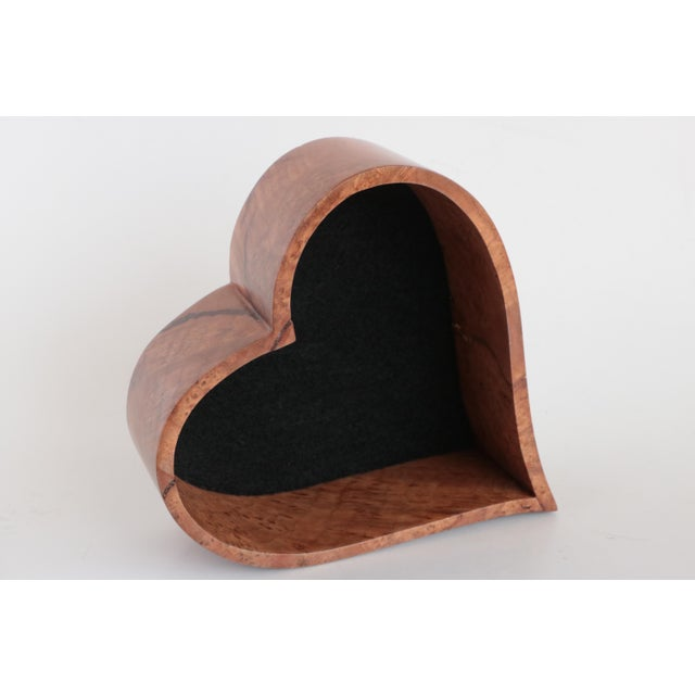 Early 20th Century Heart Shaped Wooden Trinket Box For Sale - Image 5 of 7