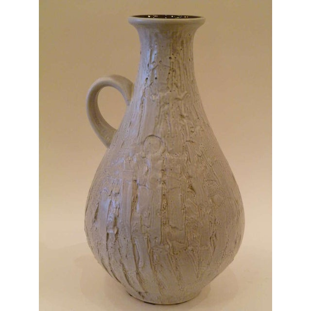 Large 50s Clemens & Huhn Textured German Pottery Mid Century Modern Krug Floor Vase - Image 5 of 9
