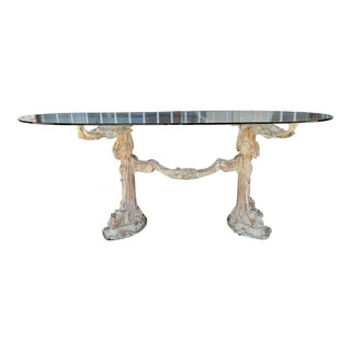Antique 1940s Driftwood and Glass Dining Table For Sale