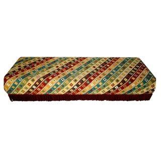 Custom Made Tribal Upholstered Banquette For Sale