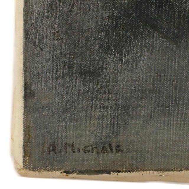 Violet Madame - Oil on Canvas , signed lower left - Unframed Place of Origin: Europe
