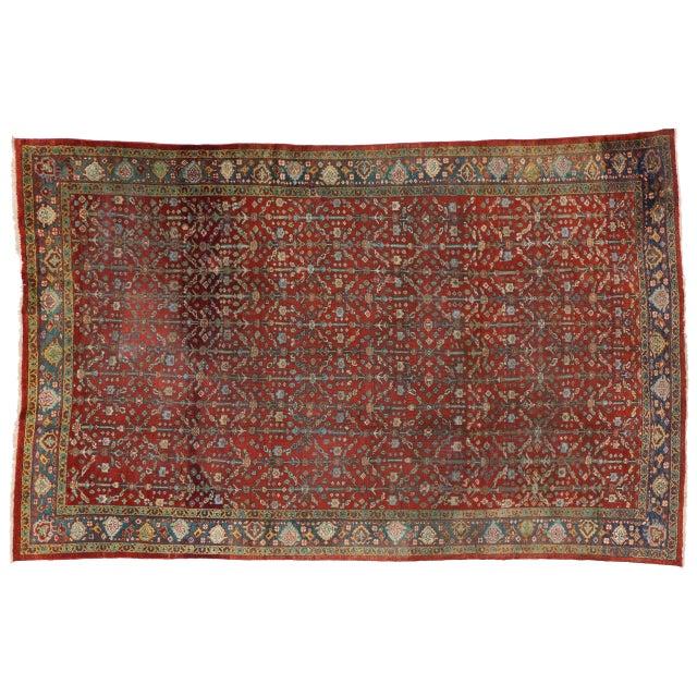 Antique Mahal Persian Area Rug 7 X 11 Chairish