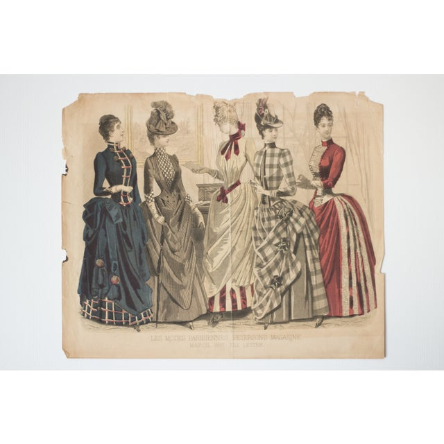 Antique 1880s Fashion Print For Sale - Image 5 of 5