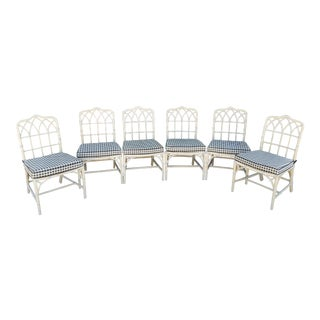 Vintage 1960's McGuire Dining Chairs - Set of 6