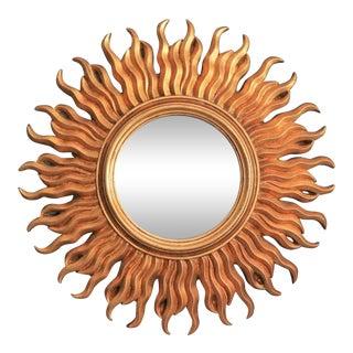Mid Century Italian Gilt Sunburst Mirror