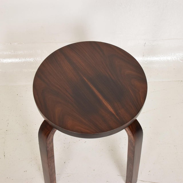 1980s Mid Century Danish Modern, Rare Rosewood Stool by Alvar Aalto for Artek For Sale - Image 5 of 7