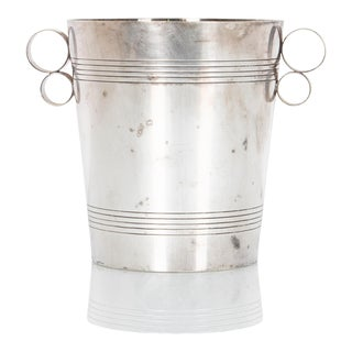 Art Deco Silver-Plated Ice Bucket For Sale