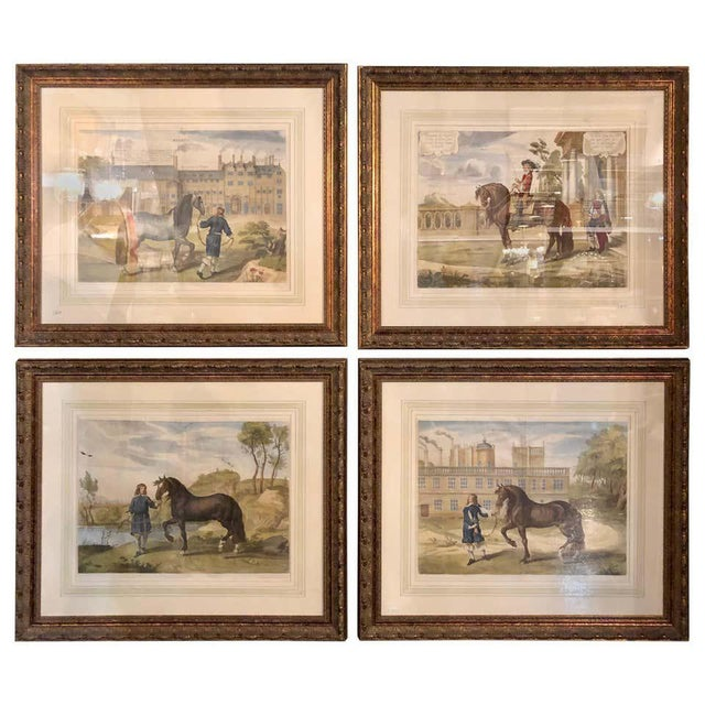 Set of Four Finely Framed and Matted Engravings of English Men on Their Horses For Sale - Image 13 of 13