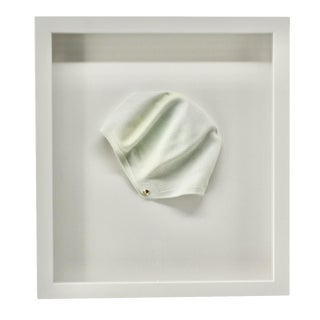 1970s Vintage White Framed Swim Cap For Sale