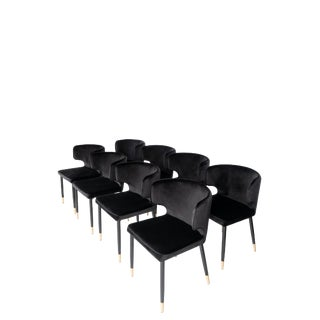 Modern Kayla Upholstered Dining Chairs- Set of 8 For Sale