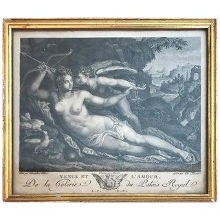 18th Century Engraving of Venus Et L'amour For Sale