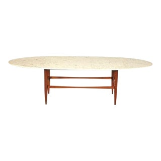 1960s Mid-Century Modern Marble Top Coffee Table For Sale