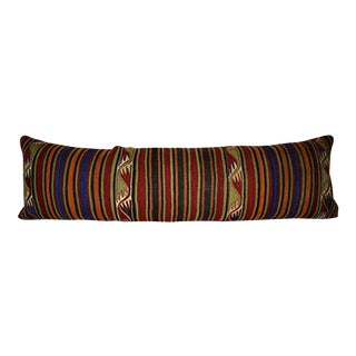 Anatolian King Pillow, Shams Long Pillows for Bed, Turkish Kilim Pillow Cover 18'' X 59'' (45 X 150 Cm) For Sale