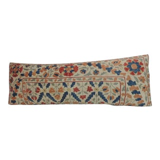 Vintage Embroidery Floral Suzani Bolster Decorative Pillow