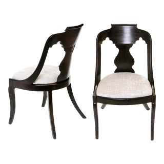 Late 18th Century Empire Parlor Chairs - a Pair For Sale