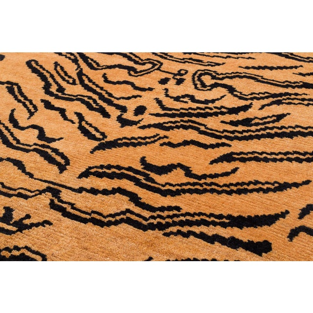 """Textile Wool Tibetan Tiger Rug by Carini-3'x5'10"""" For Sale - Image 7 of 8"""