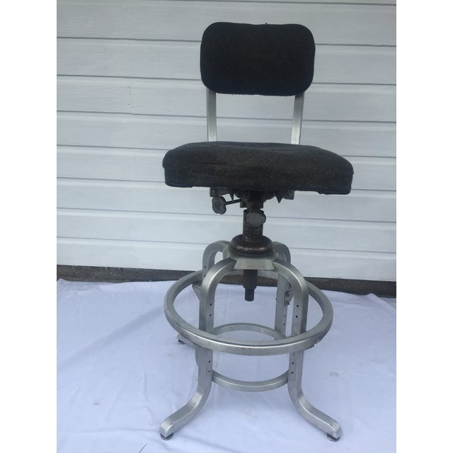 1960s Industrial Swivel Lab Stool For Sale - Image 9 of 10