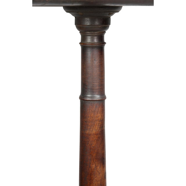 19th Century American Chippendale Mahogany Candlestand For Sale - Image 5 of 8