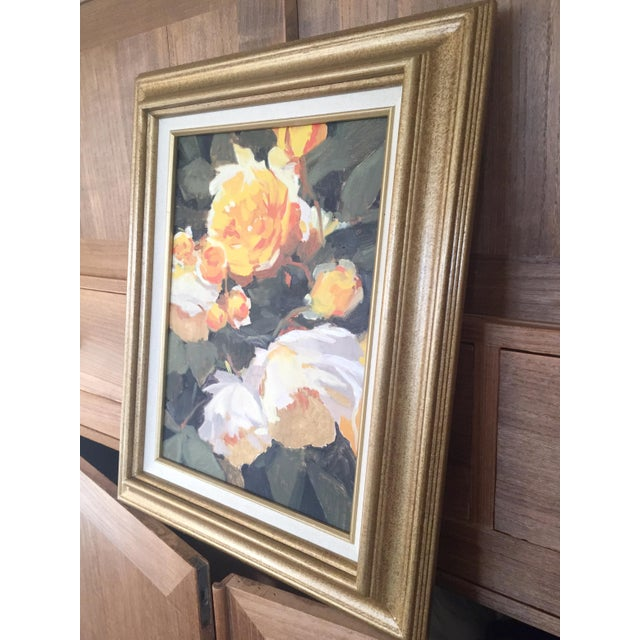 Vintage French Oil Flower Painting - Image 5 of 5