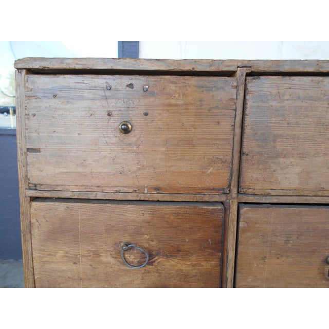 24 Drawer Pine Apothecary Cabinet For Sale - Image 9 of 10
