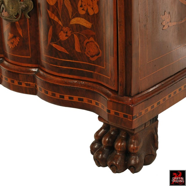 Fine Dutch Marquetry Drop Front Secretary / Desk For Sale - Image 12 of 13