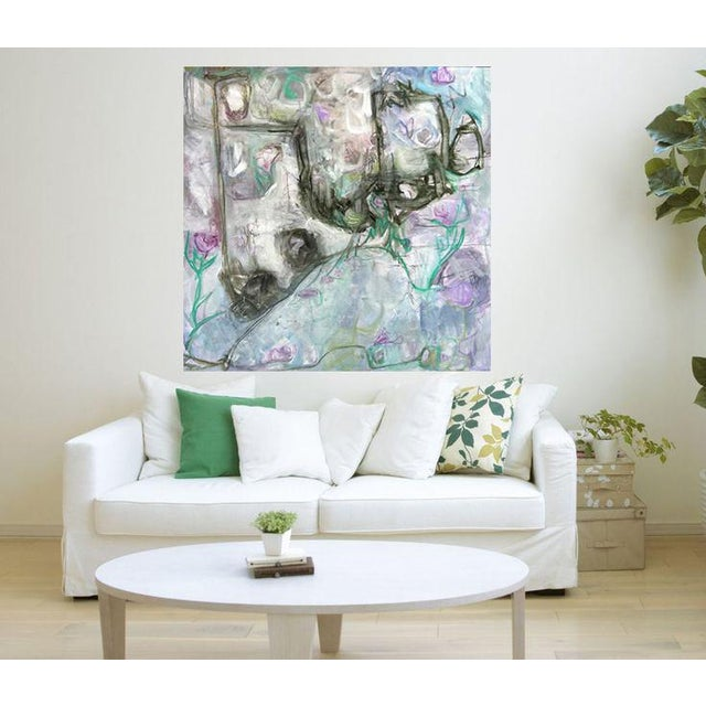 """Trixie Pitts's """"Monkey Business"""" Large Abstract Painting - Image 4 of 6"""