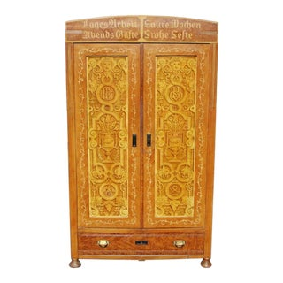 1930s Art Deco Style German Wedding Armoire