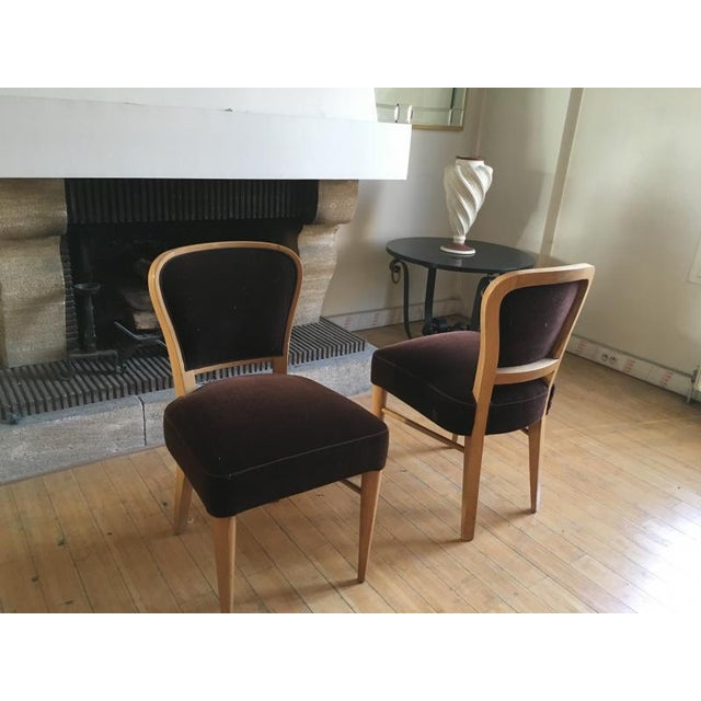 """Contemporary Jean Royere Documented Pair of Chairs Model """"Restaurant Drouant"""" For Sale - Image 3 of 9"""