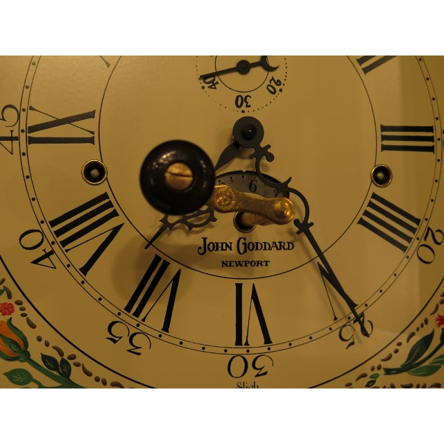 Wood Sligh John Goddard Cherry Grandfather Clock For Sale - Image 7 of 13