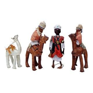Vintage Middle Eastern Leather Figurines - Set of 4 For Sale
