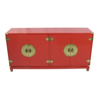 20th Century Asian Style Raspberry Storage Cabinet For Sale