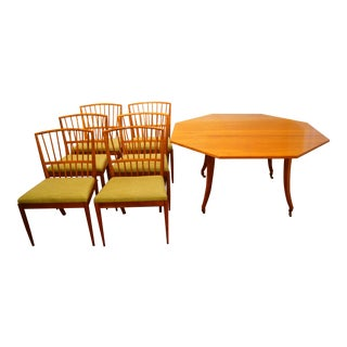Mid-Century Modern Scandinavian Dining Set - 7 Pieces For Sale