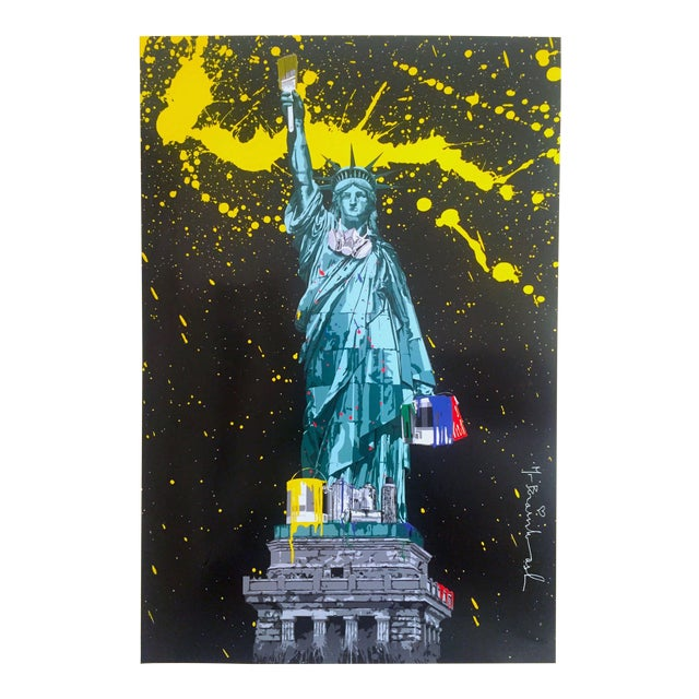 "Mr. Brainwash "" Statue of Liberty "" Authentic Lithograph Print Pop Art Poster For Sale"