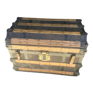 Antique Stagecoach Trunk Steamer