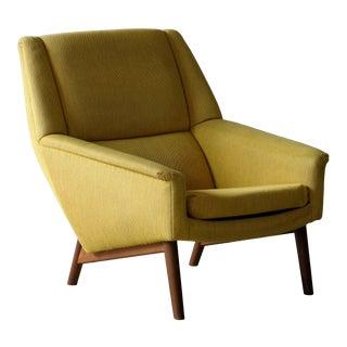 Folke Ohlsson 1950s Teak Lounge Chair for Fritz Hansen Danish Midcentury For Sale