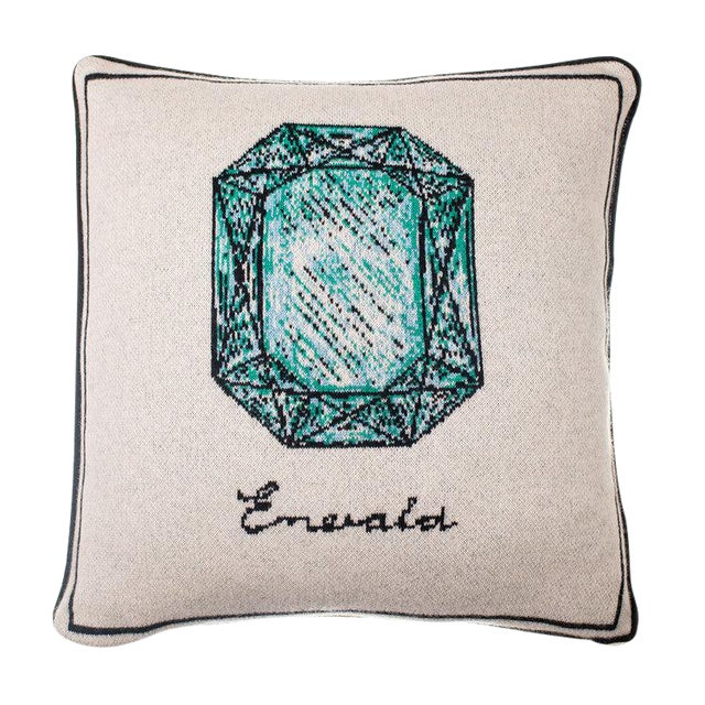 Fee Greening - Emerald Cashmere Pillow For Sale