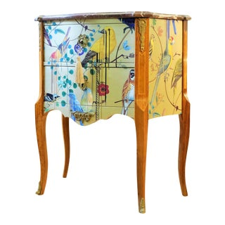 1950s Christian Lacroix Pattern Louis XV Commode For Sale