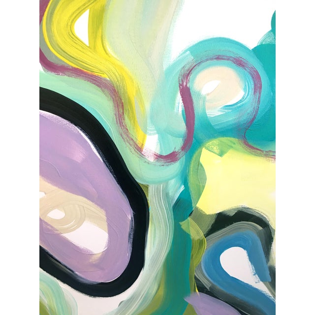 Lavender Lakes Original Contemporary Painting on Canvas For Sale - Image 4 of 6