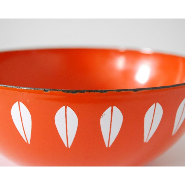 Mid-Century Modern Cathrineholm Enamelware Orange Lotus Bowl, 1960s For Sale - Image 3 of 6