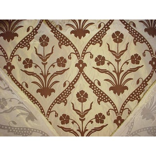 Groundworks Angelica Trellis Mocha Drapery Upholstery Fabric - 14 & 5/8 Yards Preview