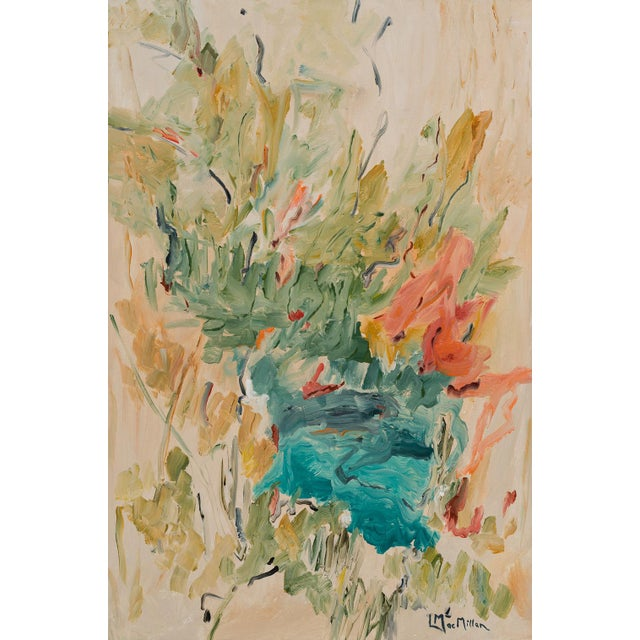 """""""Picnic"""" Abstract Painting by Laurie MacMillan For Sale In Los Angeles - Image 6 of 6"""