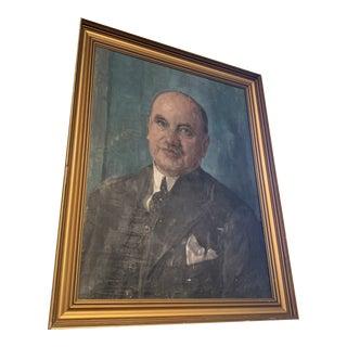 """lon Rasmussen"" Portrait Painting by Bertha Dorff For Sale"