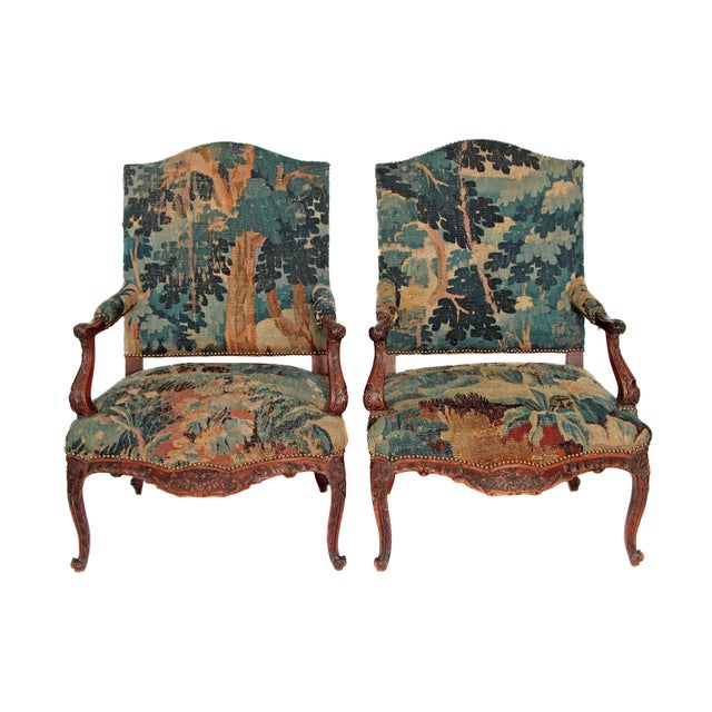 Pair of Period Louis XV Fauteuils - Image 4 of 9